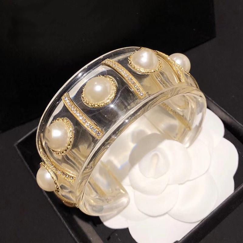Monili caldi di modo resina design resina perle Bracciale di marca calda Grande braccialetto di rame Gioielli