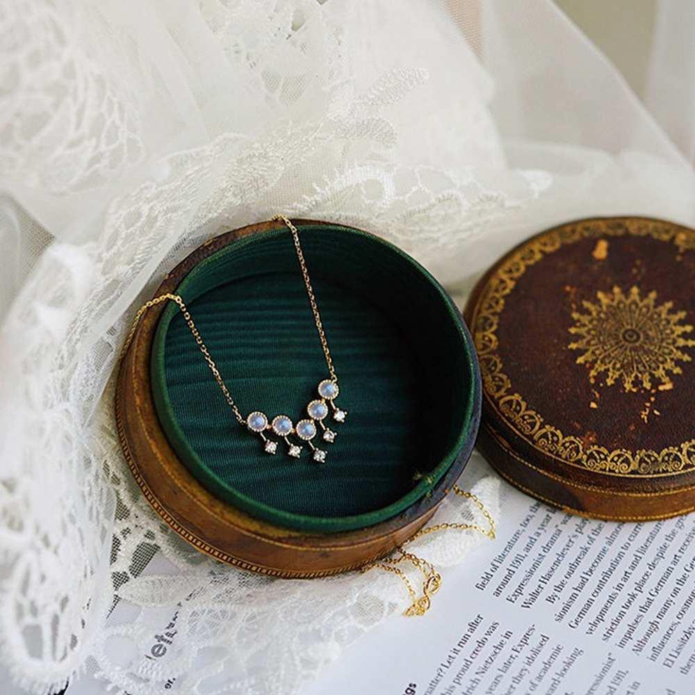 joyería de las borlas de cristal de cuarzo curación partido de la mujer de piedra natural azul Moonstone colgante de plata de la manera S925