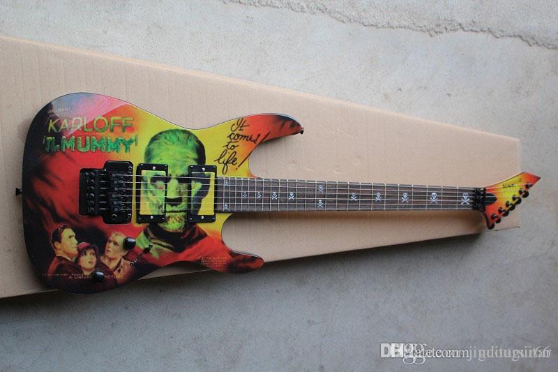 TOPTAN SICAK SATIŞ Kirk Hammett METALİK KH2 M-II MUMMY KARLOFF TIMUMMY ELEKTRİK GİTAR GUITARS
