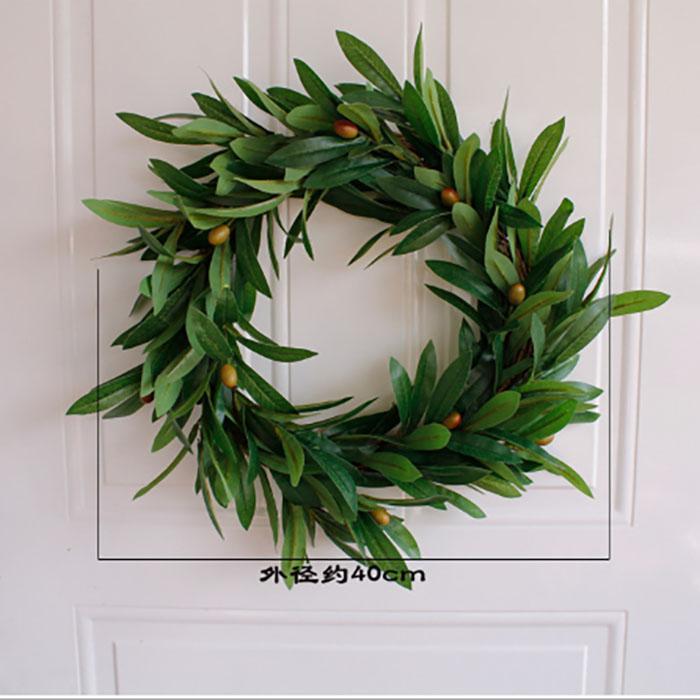 40-55 см рождественский венок искусственный цветок листья омелы дверь цветочный венок для двери стены окна Рождество главная свадьба сад украшения