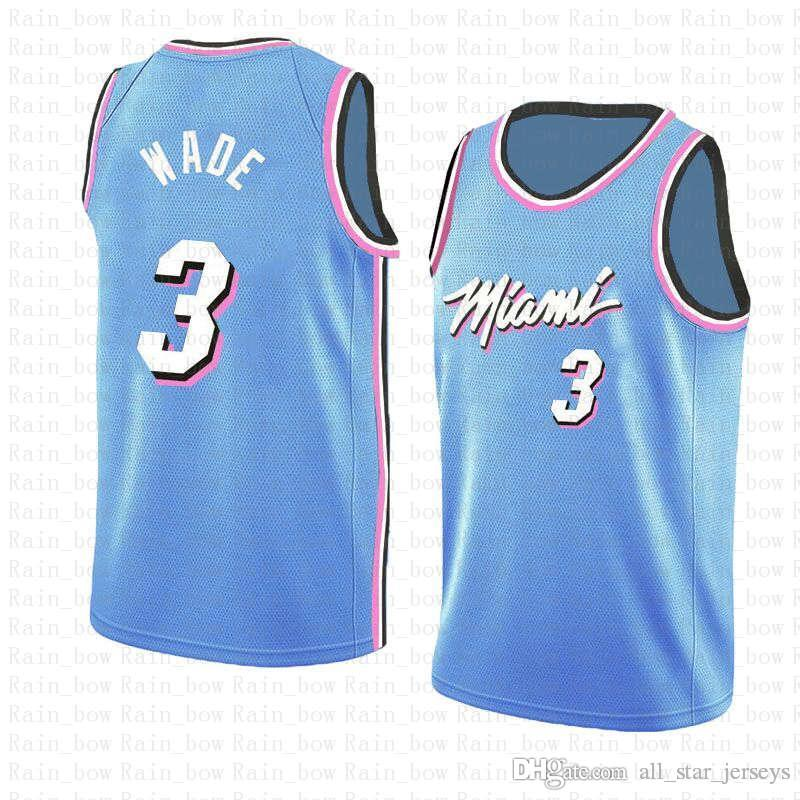 promo code 0640f 7009e 2019 3 Dwyane # Wade 2019 New The City Basketball Jerseys Miami Jersey Heat  BLUE Embroidery Logos 100% Stitched From All_star_jerseys, &Price; | ...