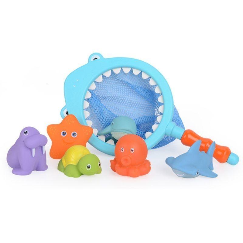 حمام الطفل اللعب للأطفال الصغار حوض القرش الصيد بركة البلاستيك الحيوان لعبة العائمة الرضع لينة أحرف متنوعة R7RB SH190912