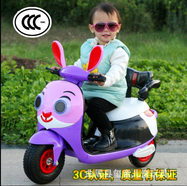 New Children Electric Motorcycle Three Wheels Electric Car for Kids Ride on 1-3-6 Years Charging Music Motorcycle Electric Trike