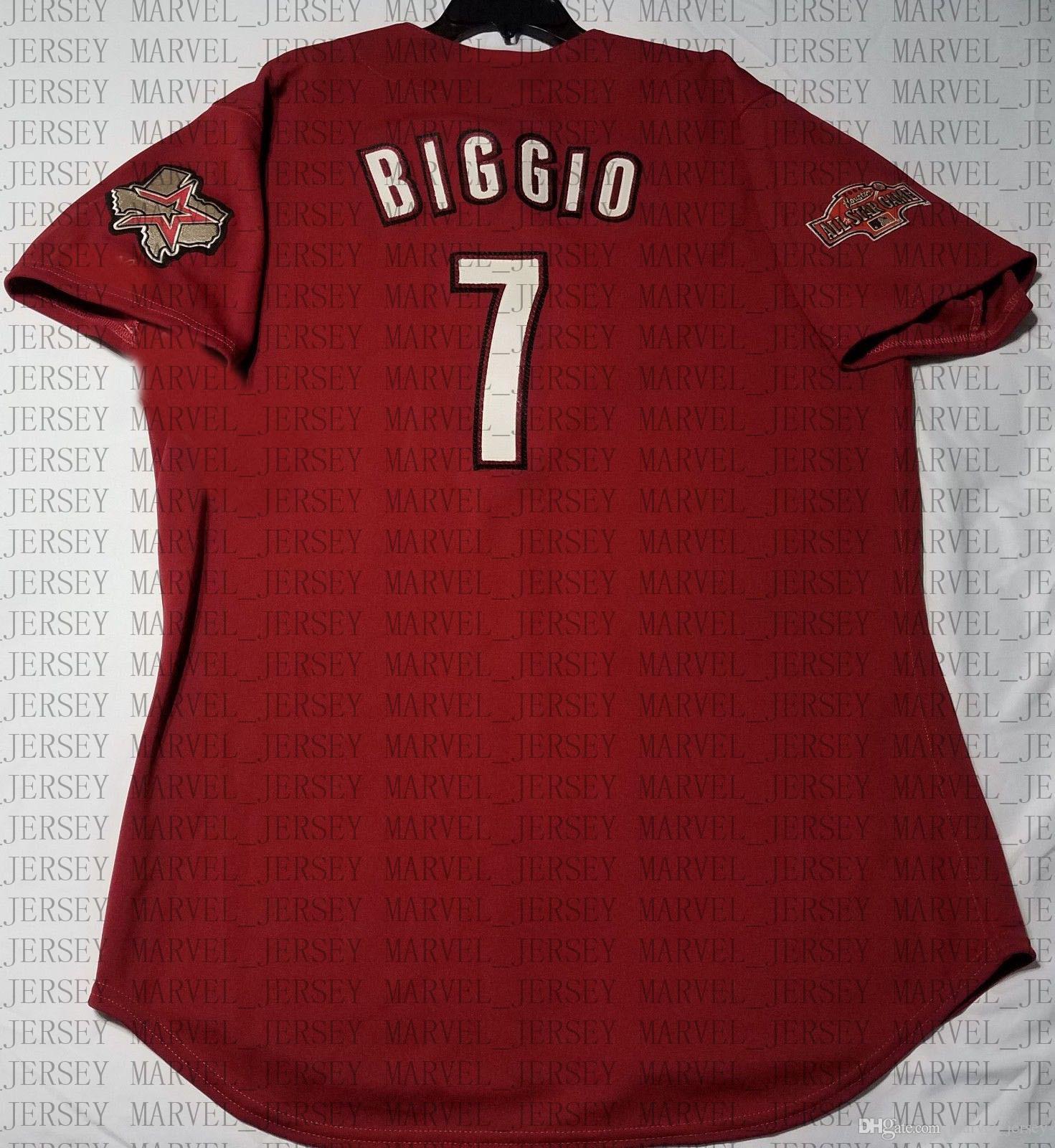 100% broderie Craig Biggio Jersey Cousu personnaliser un nom de numéro MEN Maillots NCAA JERSEY