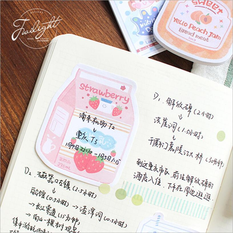 Creative drinks pattren Memo Pad Canned fruit N Times Sticky Notes Memo Notepad Bookmark Gift Stationery