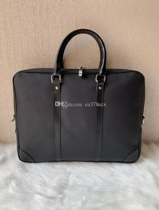 3 colors 2019 Briefcase Simple Mens Dandy Briefcase Slim Leather Briefcase Solid Large Business Man Bag Laptop Bag Messenger Bag for Men
