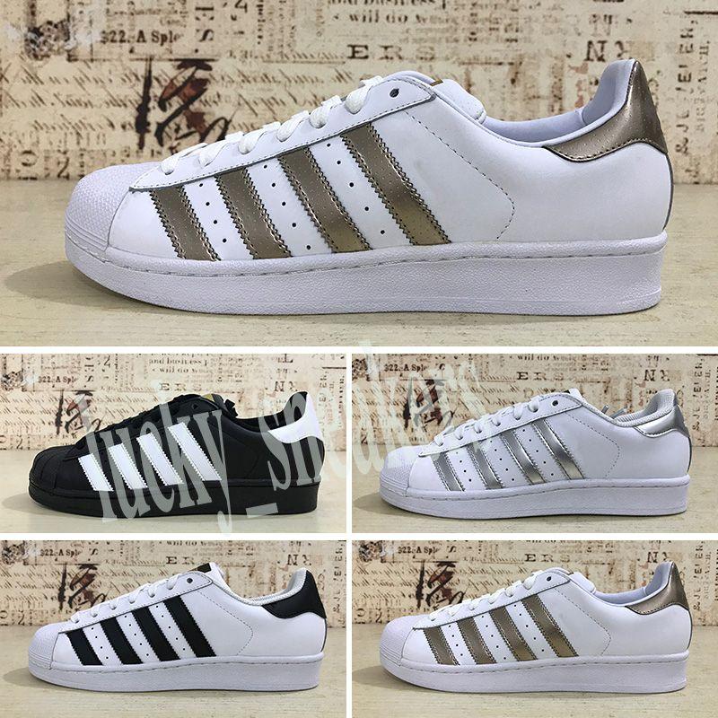 Adidas Superstar 80s Superstar Original White Hologram Iridescent Junior Gold-Superstars Sneakers Originals Super Star Frauen Männer Sport Freizeitschuhe 36-45 l56