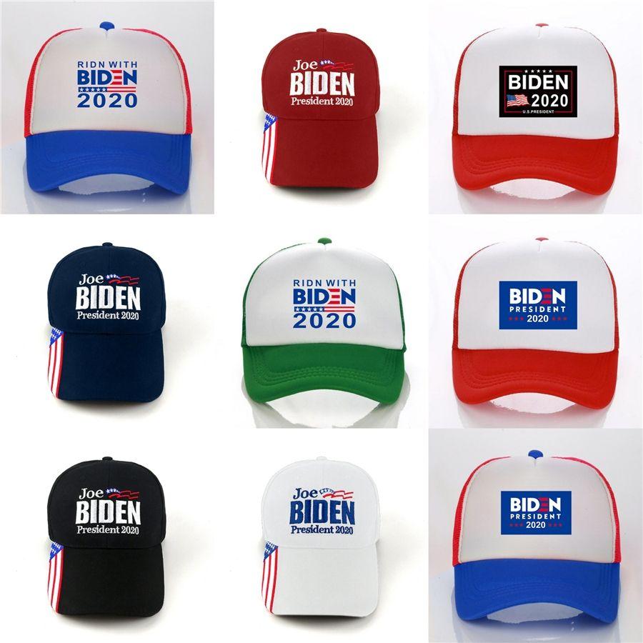 Мода Заклепки Американский Флаг Бейсболка Байден 2020 Сделать Америку Великой Снова Шапки Открытый Спорт Бейсболки T177 #202