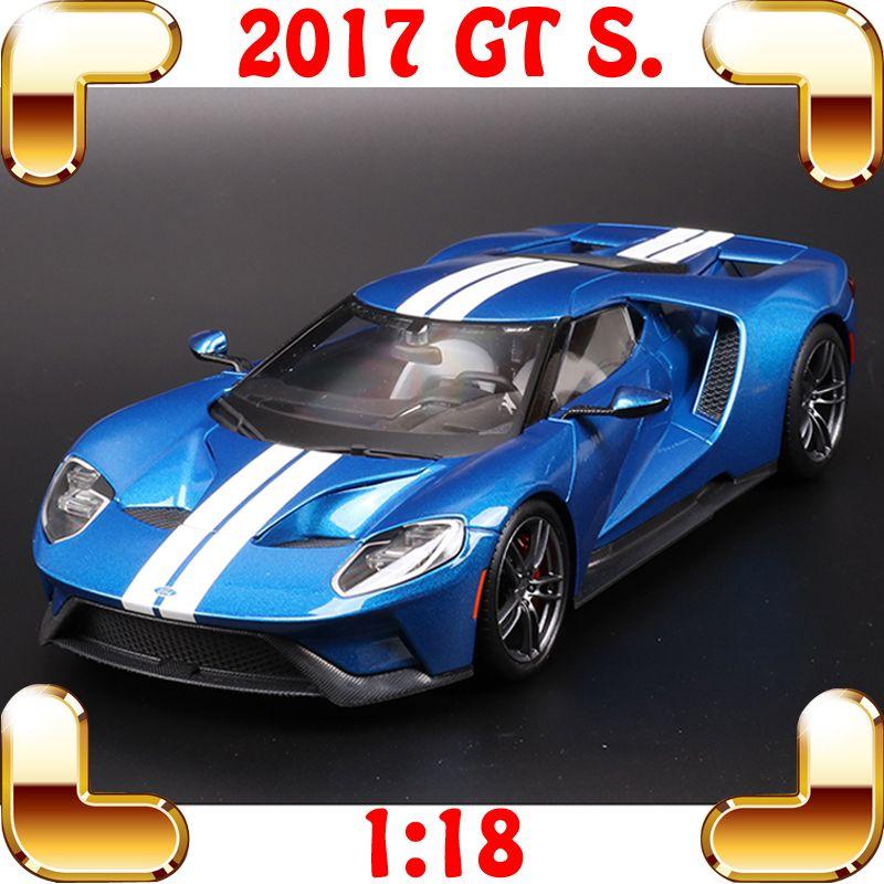 هدية عيد الميلاد 2017 GT 18/01 معدن نموذج سباق النسخة سيارة رياضية مجموعة دييكاست سبيكة معدنية فاخرة الحالية لعبة سيارة