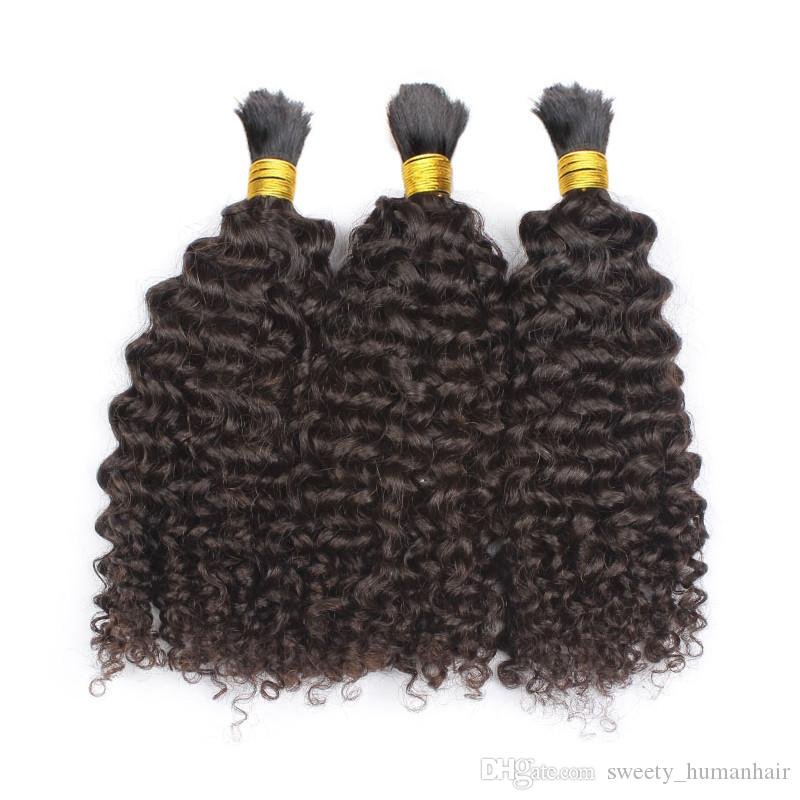 Bulk Human Hair for Braiding Mongolian Afro Kinky Curly Bulk Hair Extensions No Attachment Wholesale Factory