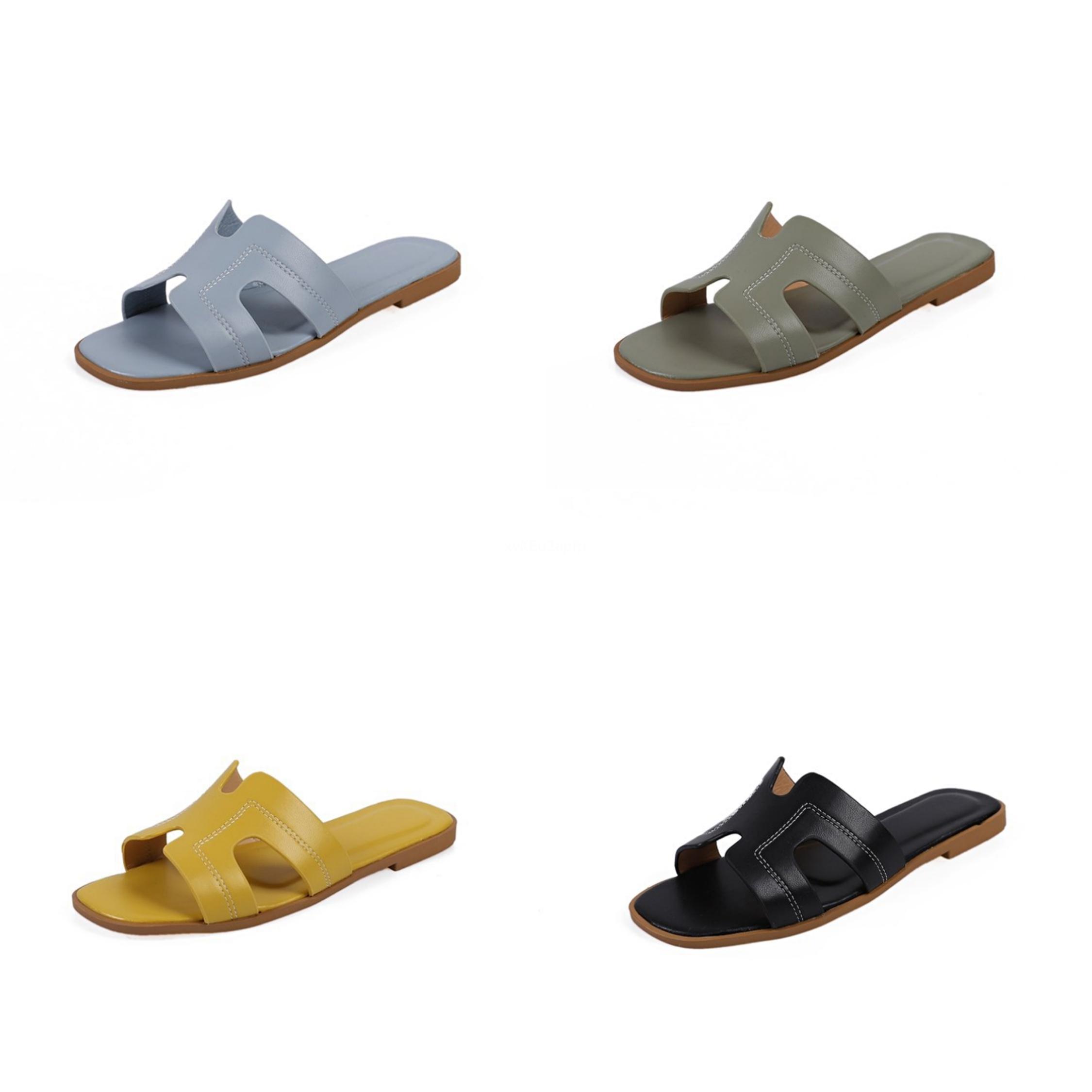 Cootelili 2020 deslizadores de las mujeres zapatos con puntera abierta mediados de talón mujeres del verano forman los deslizadores tela de malla estampado leopardo Negro base ocasional # 363
