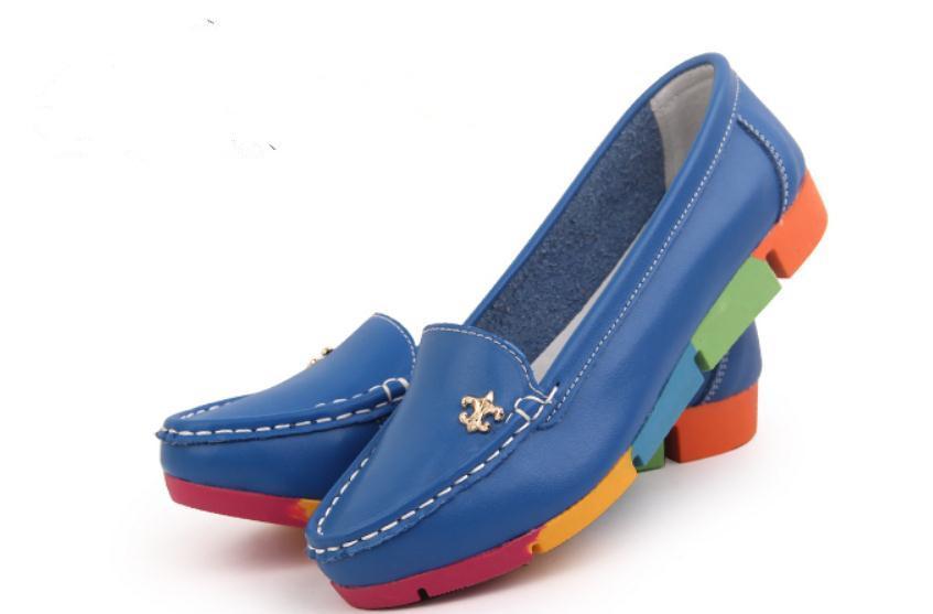 Inviare gratis 2018 primavera e l'autunno nuovo stile piatto fondo scarpe da donna