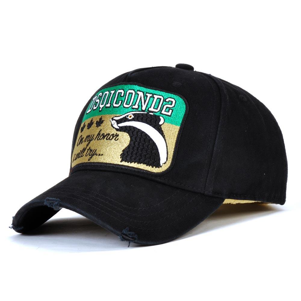 2020 اسلوب جديد DSQICOND2 التطريز قبعات قبعات الرجال والنساء سنببك كاب للرجال البيسبول قبعة جولف gorras casquette العظام D2 قبعة D76