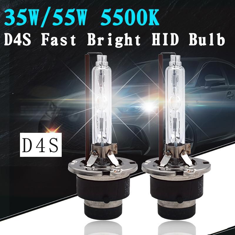 2018 الجديدة SKYJOYCE D2S D4S HID لمبة AC 12V 35W 55W بداية سريعة السوبر مشرق حامل 5500K 3900LM المعادن D2S D4S HID لمبة المصباح