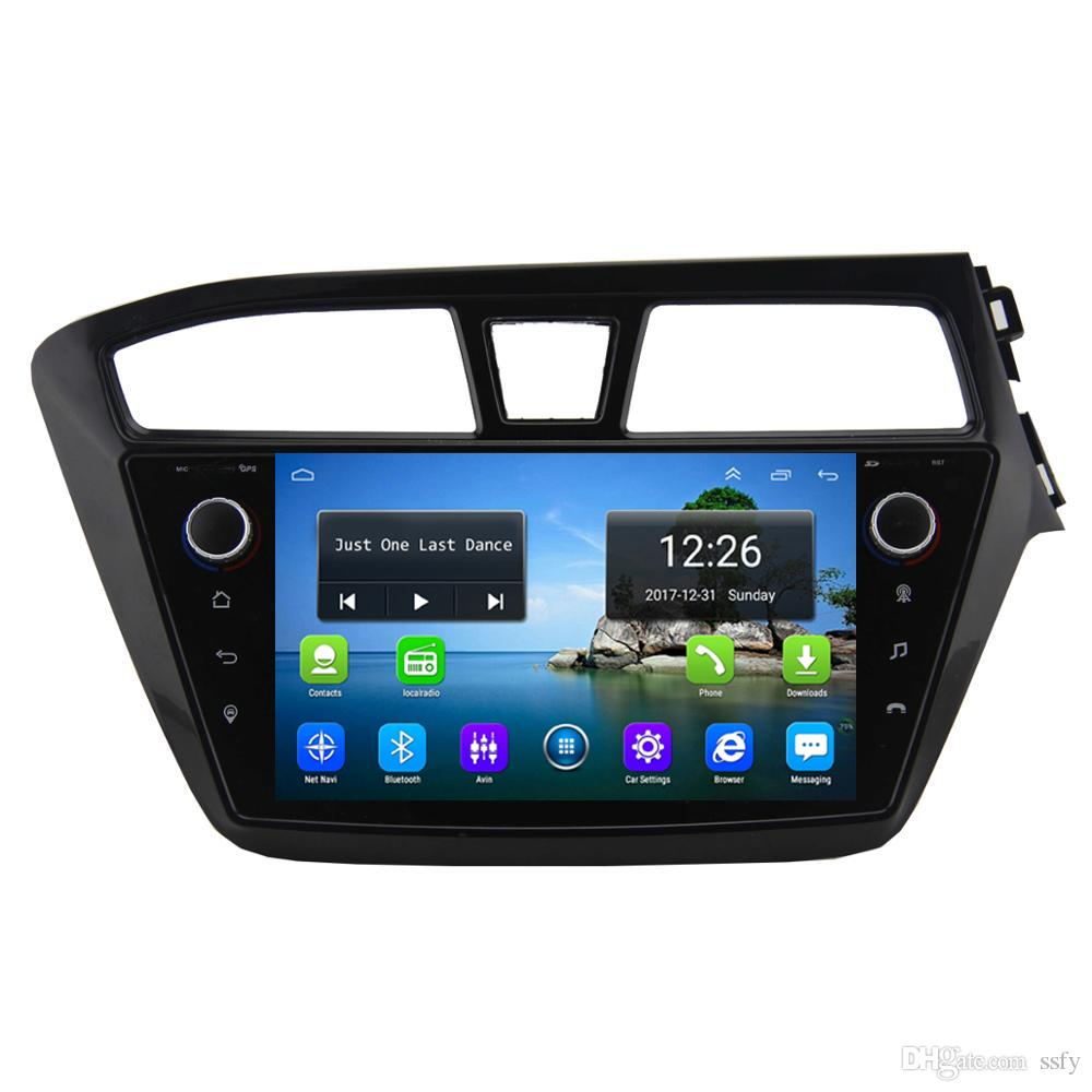 Android 4G LTE HD 1080P car MP3 MP4 Music player ecxellent bluetooth high quality GPS fast delivery for HYUNDAI i20 right driving 9inch