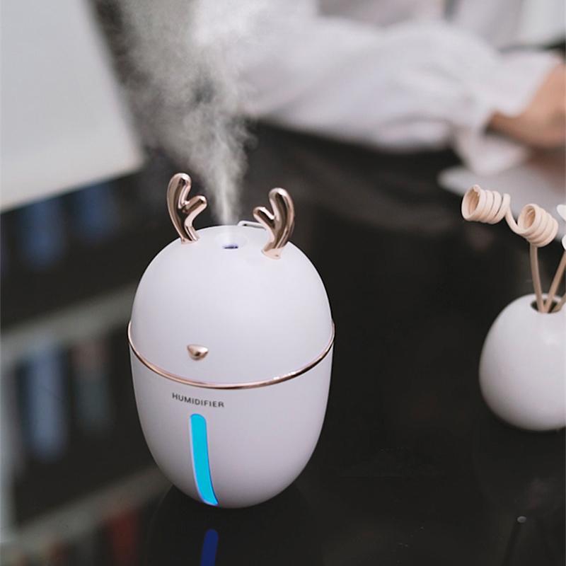 450ML umidificatore USB Aroma olio essenziale diffusore per home office Aromaterapia diffusore umidificatore con Nightlight della lampada