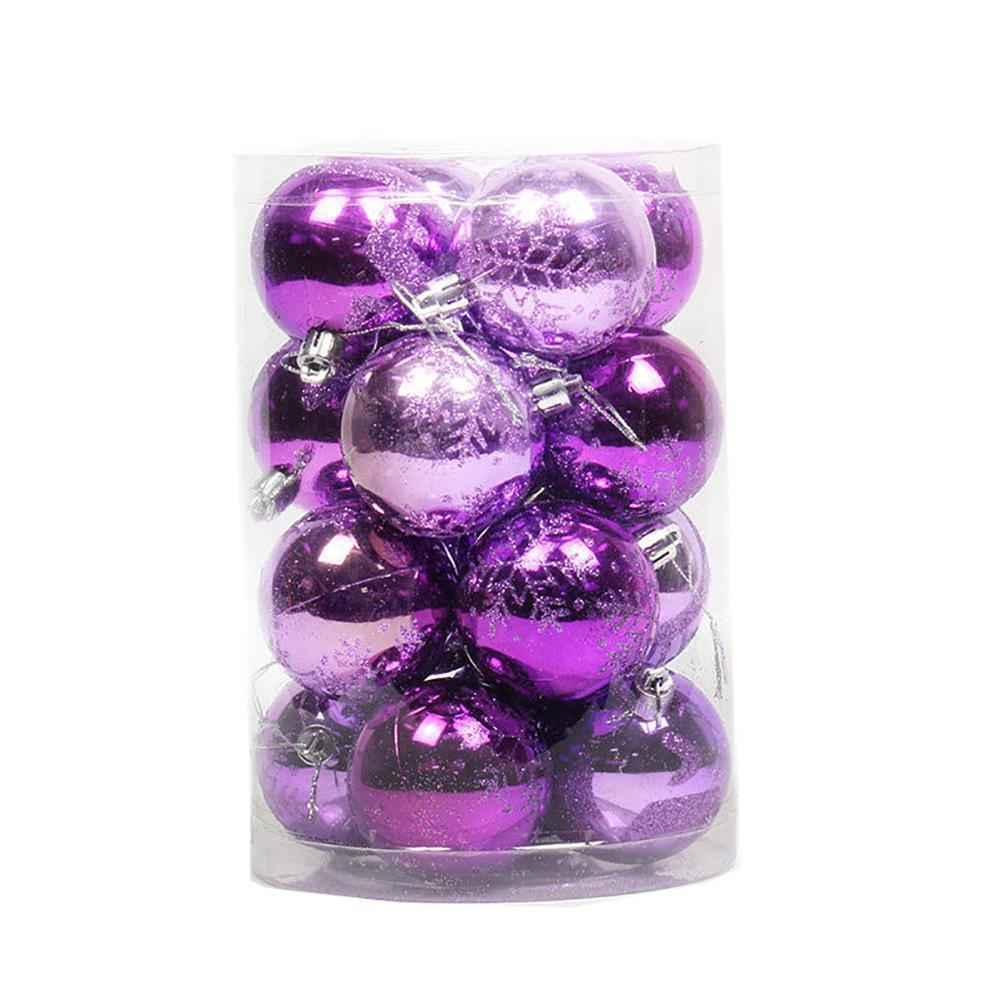 16pcs lot 8cm Christmas Tree Decor Ball Bauble Xmas Party Hanging Ball Ornament Decorations for Home Christmas Decorations