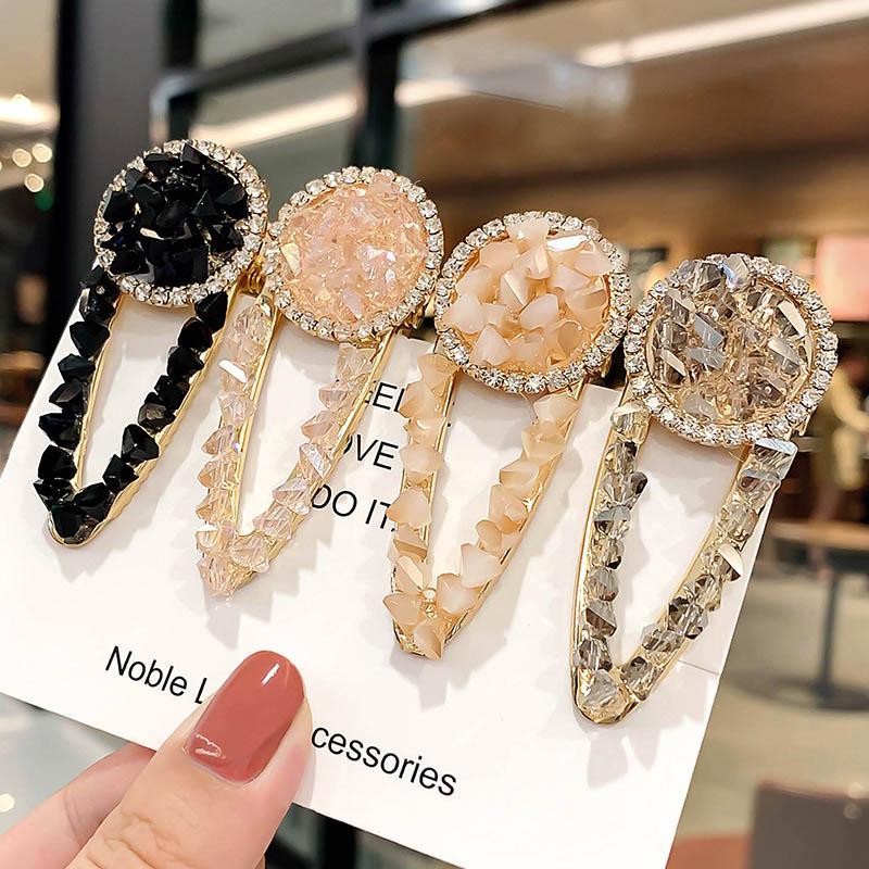 Ins моды кристалл девушка заколка бутики дизайнера заколка женщина принцесса дизайнерские аксессуары для волос для женщин BB клипов A6943