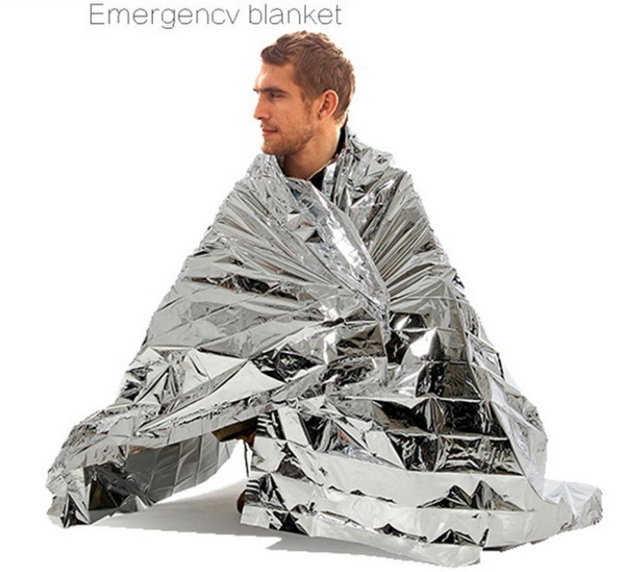100pcs Waterproof outdoor Emergency Survival Foil Thermal First Aid Rescue Blanket party gift