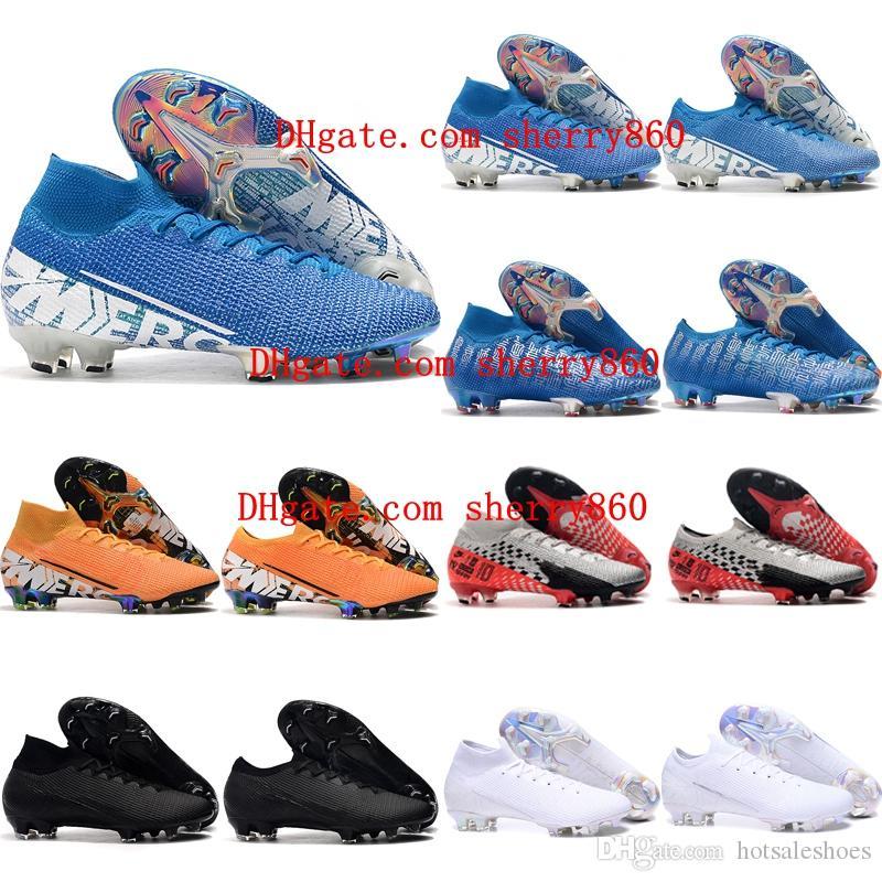 2019 رخيصة حذاء جديد للأطفال لكرة القدم ال superfly 7 النخبة SE FG بنين كرة القدم المرابط رجل إمرأة زئبقي الأبخرة 13 النخبة FG كرة القدم الأحذية 35-45