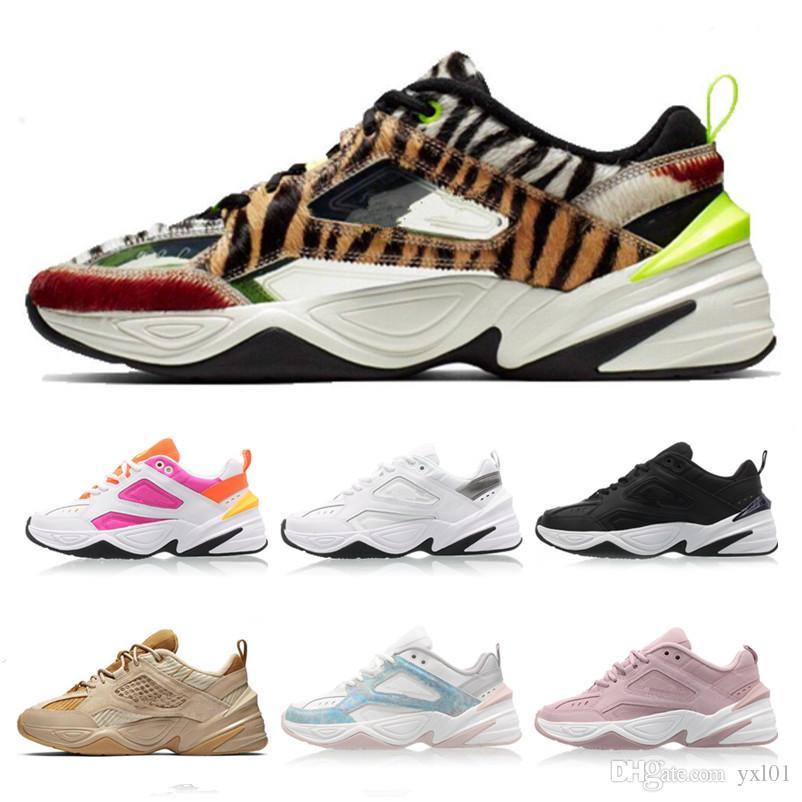 2019 Monarch M2K Tekno SP Animal Print Leopard Grain Phantom NASA Pink Running Shoes for Men Women Sports Shoes Designer Sneakers Size 36-45