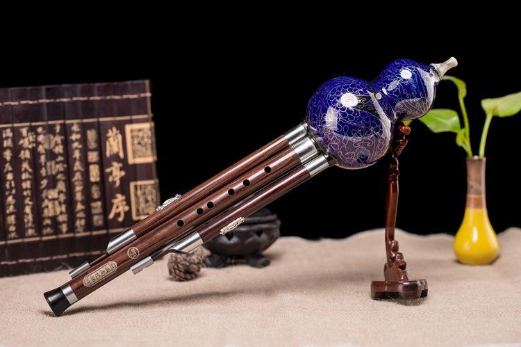 Nuova C chiave Hulusi cinese tradizionale fatto a mano Flauto etnici a fiato in legno Strumento musicale