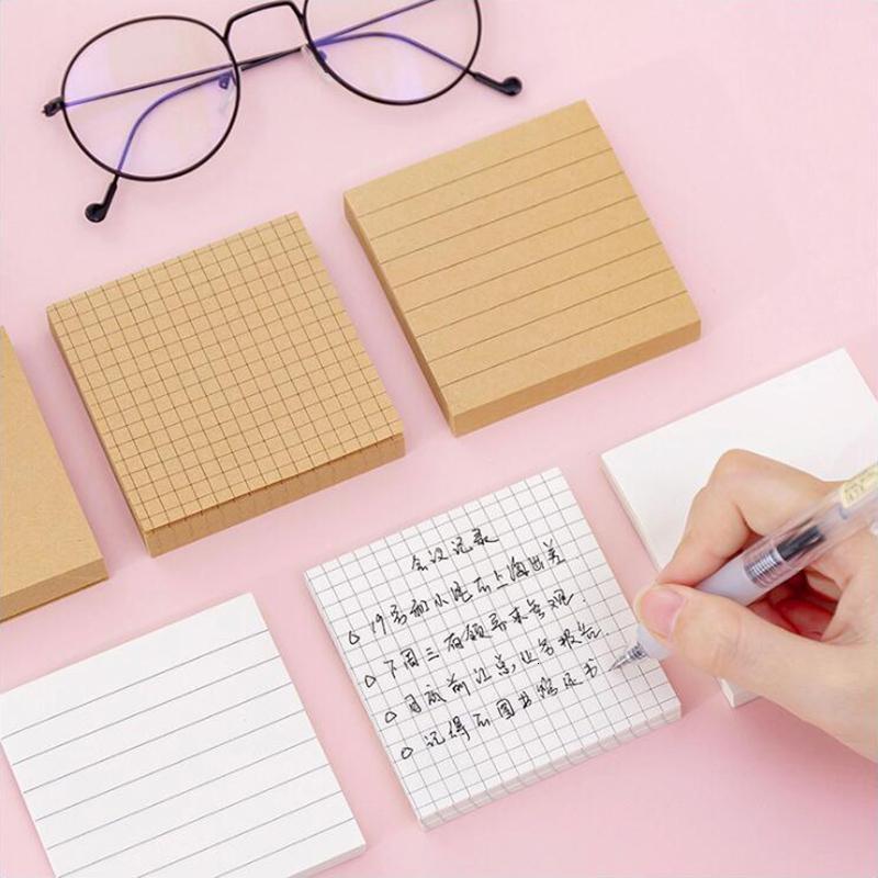 Vuote griglia orizzontale rilievi di appunto semplice Scrapbook Sticker Scuola Forniture postale Sticky Notes Stationery Office