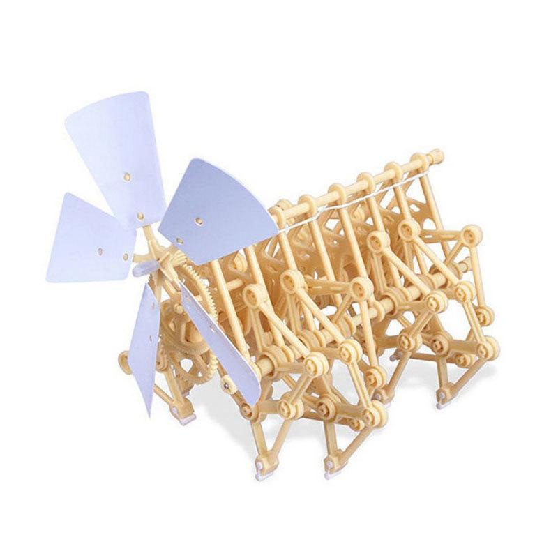 Miniature Miniature Strandbeest Kit de marche Theo Jansen - Science STEM bricolage modèle 14 * 20 * 17cm, Boîte pour vente au détail Y190530