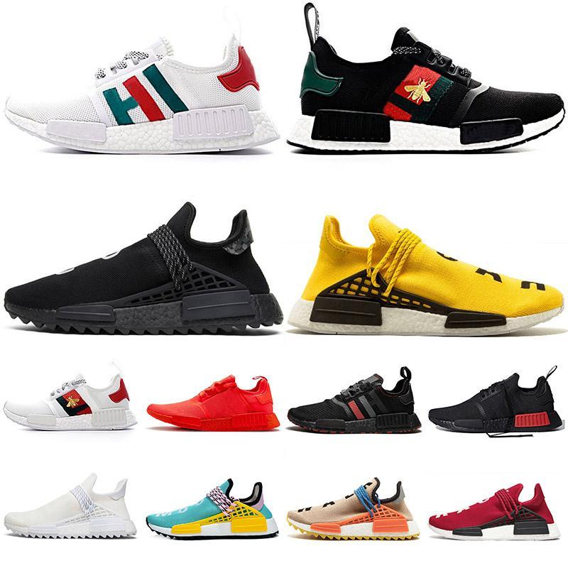 NMD R1 Human Race Hu Trail TR Pharrell Williams XR1 OG Classic Yellow Nerd Black Bee White Canvas honey Japan Thunder Trainers Sneakers
