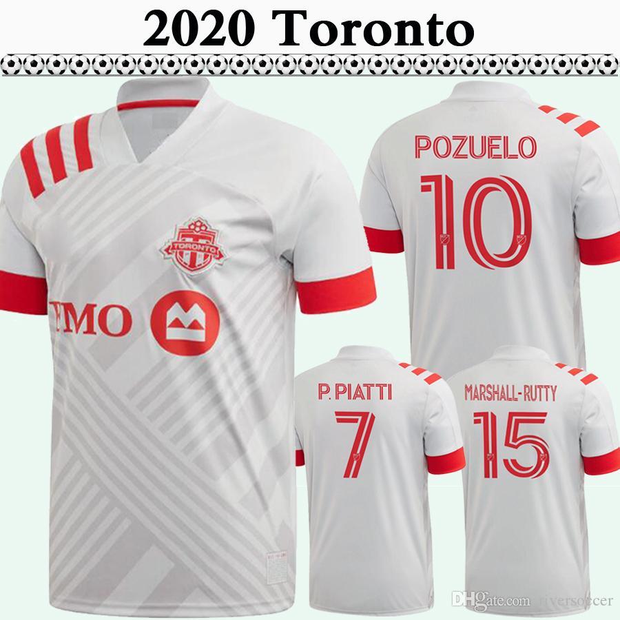 20 21 BRADLEY POZUELO Altidore Mens maglie calcio Nuovo Toronto FC Lontano calcio bianco camicia MORROW PIATTI MARSHALL-Rutty OSORIO Jersey