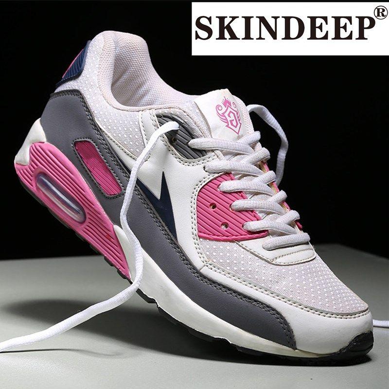 SKINDEEP Мода толстым дном высокой верхней воздушной подушке обувь Дамы на открытом воздухе цветастые вскользь удобную обувь дышащая сетка