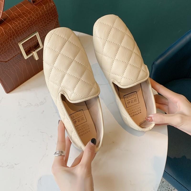 İlkbahar Sonbahar Ayakkabı Kadın loafer'lar Ekose loafer'lar Ayakkabı Kadınlar Yumuşak Katlanabilir Topuk Düz Ayakkabı Okul kız bahar Flats J15-99