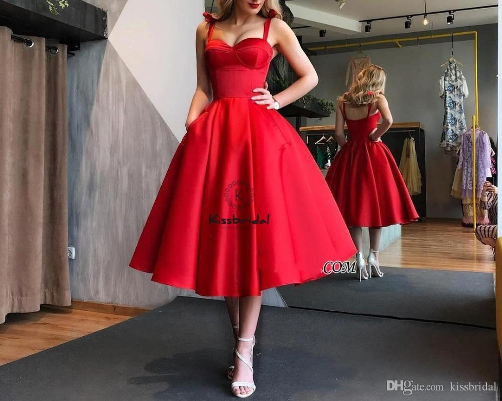Großhandel Elegantes Schatz Rotes Kurzes Abschlussball Kleid 11 Tee Länge  Heimkehr Kleid Formale Abendkleider Cocktailparty Kleid Von Kissbridal,