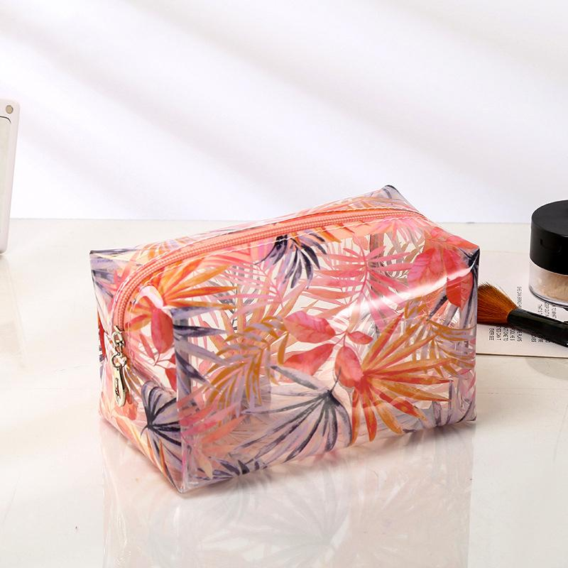 Ragazze PVC Zipper sacchetti cosmetici custodia da viaggio impermeabile trasparente articoli da toilette Box Custodia donne trucco dell'organizzatore