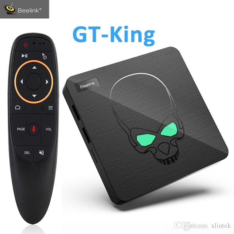 S922X control de voz a distancia GPU smart box apoyo 4GB LPDDR4 64GB Google TV 6 núcleo caja de la TV Beelink GT-rey Android9.0 Am-lógica
