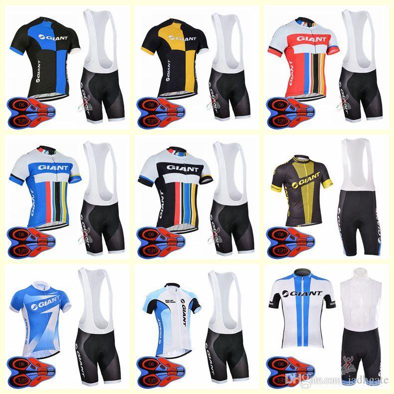 GIANT team Cycling Short Sleeves jersey bib shorts sets New mens summer quick-dry Clothing maillot mountain bike U82004