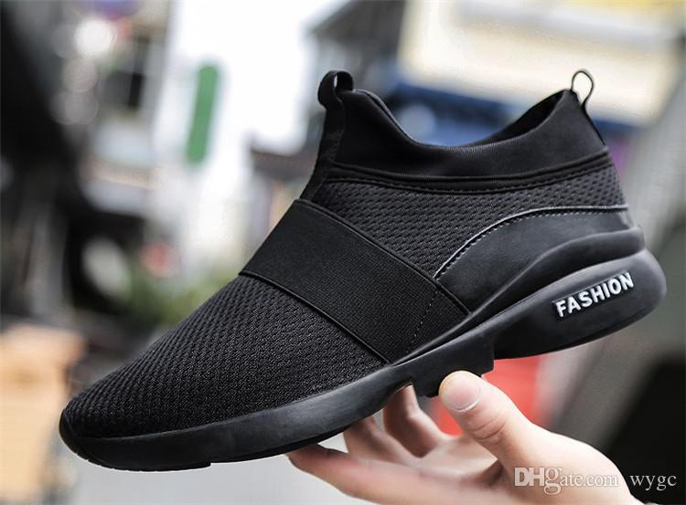 2019 أحذية الرجال الصيف الاتجاه تنفس شبكة الرياضة الاحذية المد الحجم الكبير 45 46 عارضة أحذية الرجال