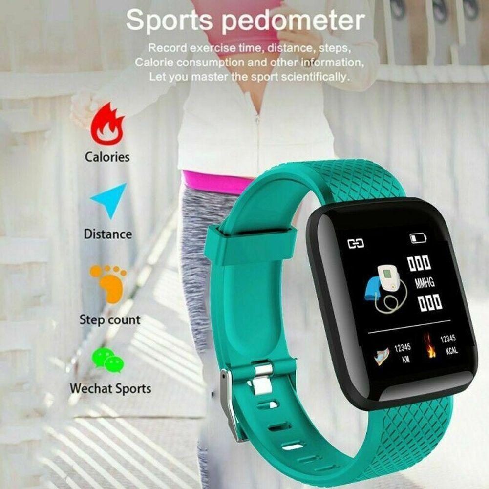 Bluetooth inteligente Pulseira Esporte Blood Pressure Monitor de freqüência cardíaca relógio inteligente de Fitness Rastreador pedômetro Smartwatch para as Mulheres Homens