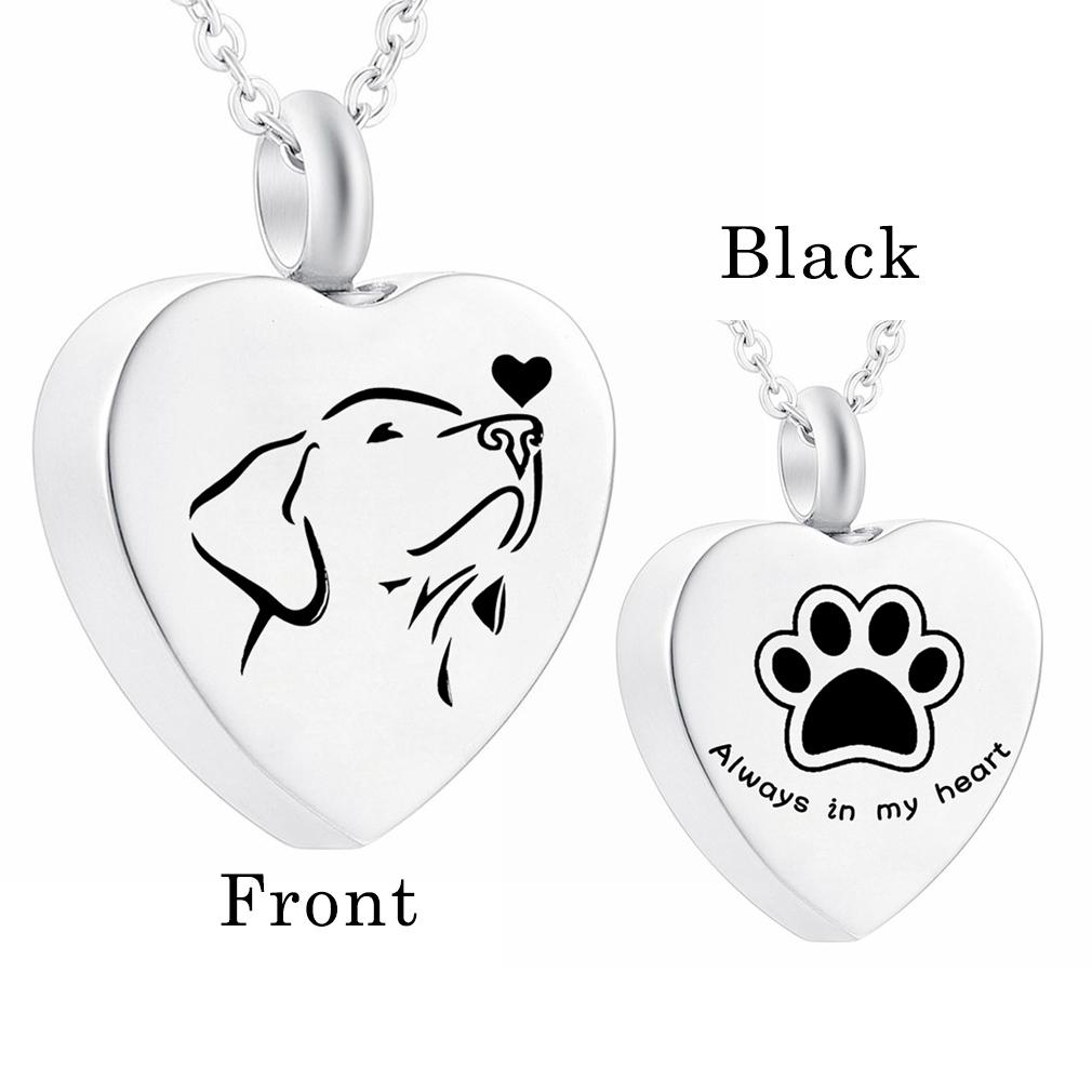 Stainless Steel Teardrop Pendant Cremation Jewelry For Ashes Pet Dog Cat