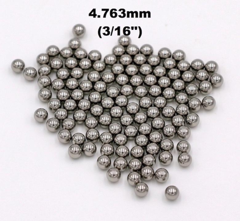 3/16'' (4.763mm) 316 Stainless Steel Ball For Bearings, Pumps and Valves, Aerosol and Sprayers, Used in Medical, Health and Beauty Aid