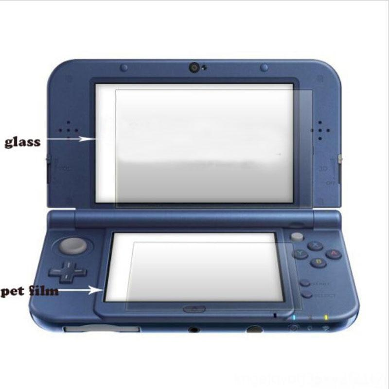 Top Tempered Glass LCD Screen ProtectorBottom PET Clear Full Cover Protective Other Accessories Game Accessories Film Guard for Nintendo New