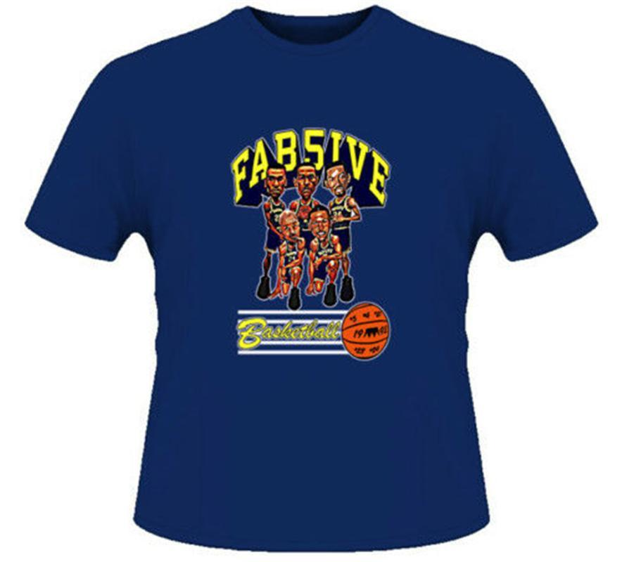 Fab Five Michigan Retro Karikatur T-Shirt Grafik Retro-Tops T-Shirt