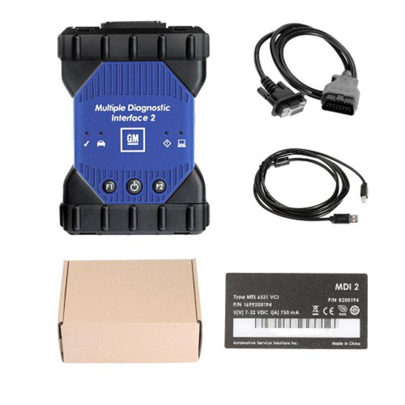 2020 New Professional Auto Scanner GM MDI 2 Multiple Diagnostic Interface with Wifi Card GM MDI Diagnostic tool High Quality Free Shipping