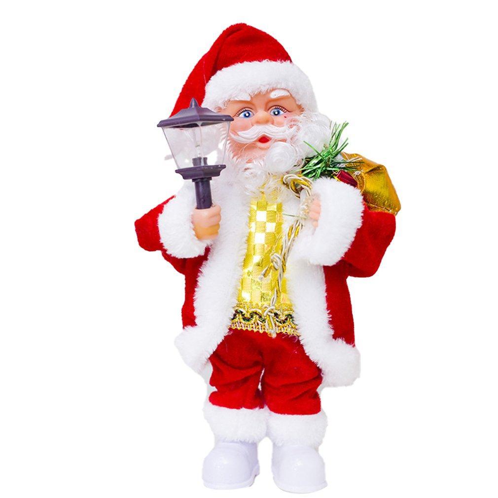 Creativo elettrico Babbo Natale giocattolo bambola Canto Danza Illuminazione bambola giocattolo musicale per Natale regalo dei bambini