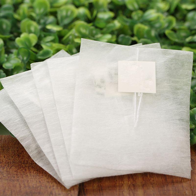 1000 unids 58 * 70 mm Bolsas de té de fibra de maíz Pirámide Filtro de sellado térmico Bolsas de té PLA Biodegradadas Filtros de té