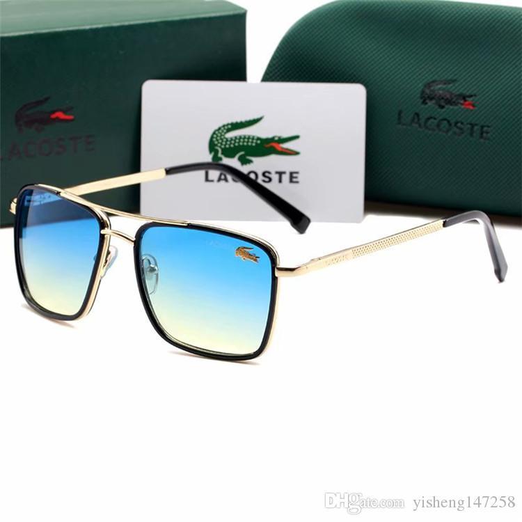 Brand Designer Occhiali da sole Cerniera in metallo di alta qualità Occhiali da sole Uomo Occhiali da donna Occhiali da sole UV400 Unisex con scatola