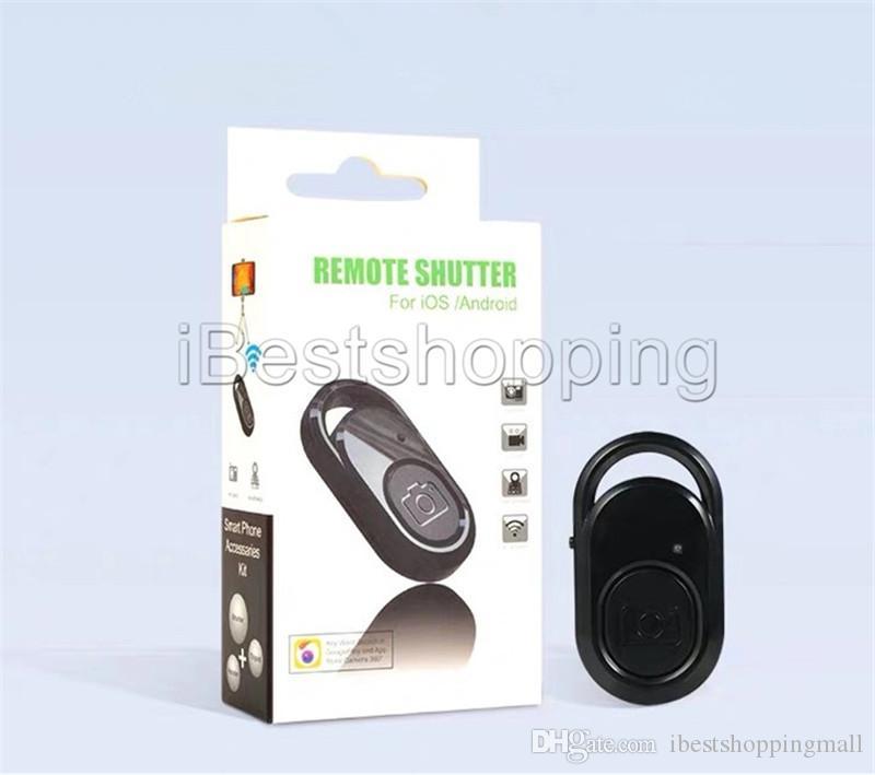 Botão de Controle Remoto Bluetooth Controlador Sem Fio Self-Timer Camera Vara Liberação Do Obturador Do Telefone Monopé Selfie para ios