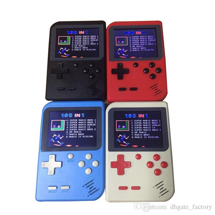 Neue heiße bewegliche Minihandspielkonsole kann 168 Spiele 8-Bit 2,8-Zoll-Farbe-LCD-Spiel-Spieler für FC-Spiel speichern