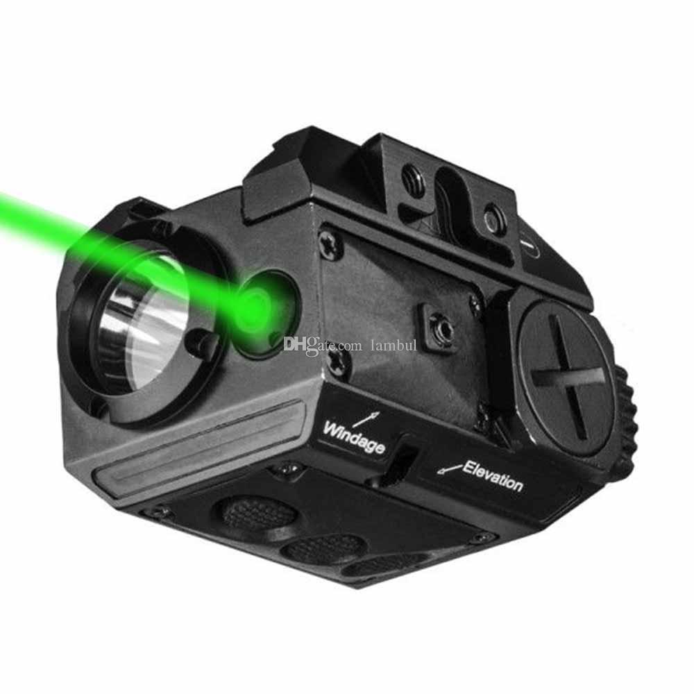 Laserspeed 녹색 레이저 결합 빛 빨간 레이저 시력 Picatinny 가로장 총 빛