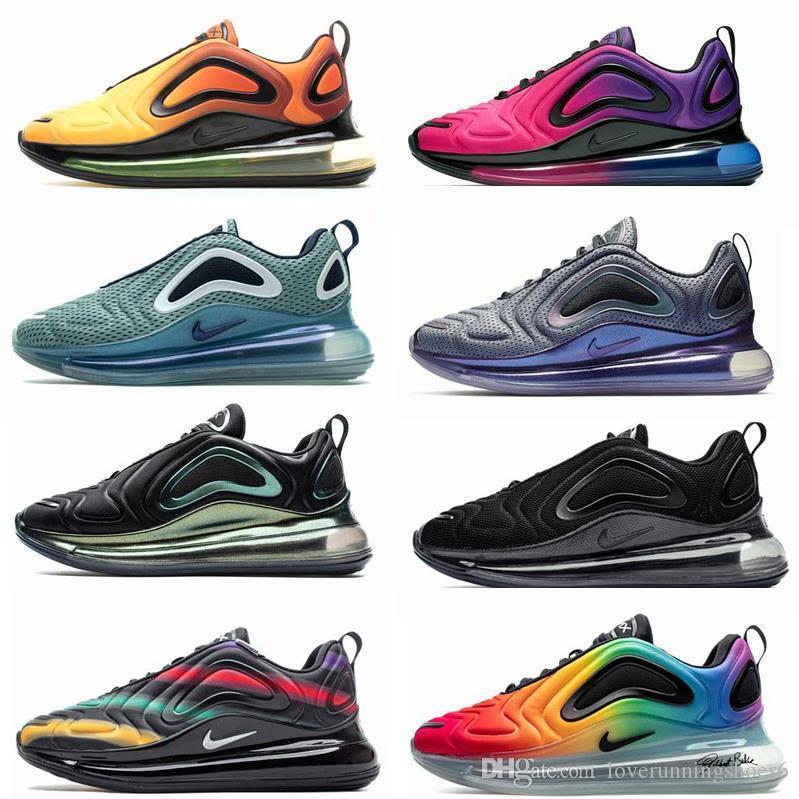 Novo 720 Running Shoes almofadadas Homens Mulheres Neon Triplo Carbon Black Grey 72C Seja sneakers verdadeiro lobo cinzento Sea Forest University Chaussures